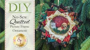 diy no sew quilted picture frame ornament with jennifer bosworth