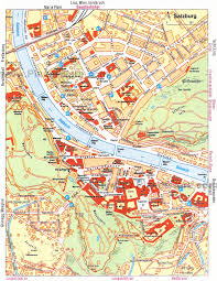 Travel Map Of Europe by Maps Of Salzburg Detailed Map Of Salzburg In English Maps Of