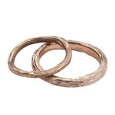 wedding band set twig and branch gold wedding band set barbara