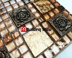 yellow gold glass mosaic kitchen backsplash tiles rnmt097 resin
