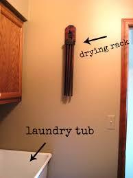 wall drying rack laundry room