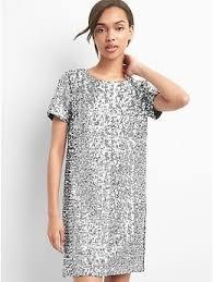 shift dress sleeve sequin shift dress gap eu