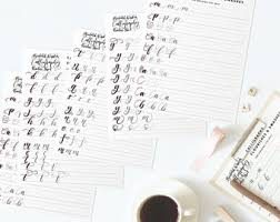 calligraphy practice sheets learn calligraphy printable