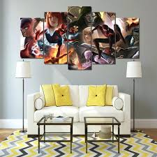 wall ideas marvel heroes 3d lenticular wall art marvel 3d wall pictures frame home decor room poster canvas wall art modular 5 panel comics marvel ultimate captain