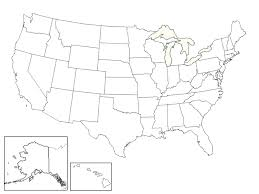 United States Map Template by Laird Mary Ellen Daily Lessons And Homework