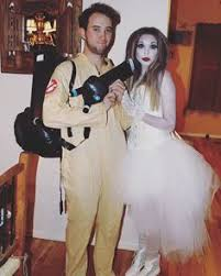Ghostbusters Halloween Costumes Ghostbuster U0026 Marshmallow Man Couple Costumes Ghostbusters