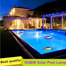 solar swimming pool lights solar outdoor led swimming pool lights rgbw full color 24 leds ip68