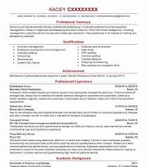 Delivery Driver Resume Example by Best Pizza Delivery Drivers Resume Example Livecareer