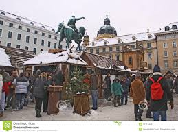 middle age christmas market in munich editorial photography