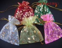 omh wholesale 100pcs lot mixed voile gift bags