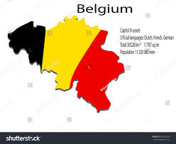 belgium language map belgium map stock vector 451642258