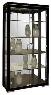 Corner Curio Cabinet Australia Modern Curio Cabinet With Wenge Finish And Halogen Light Novo