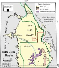 San Luis Valley Colorado Map by Advancements In Understanding The Aeromagnetic Expressions Of