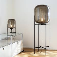 Tiny Lamps by Oda Lamp Big Smoky Grey Metal Structure Lounge Furniture And
