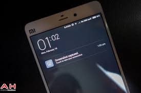 android take a screenshot on xiaomi mi note