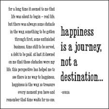 quotable cards happiness is a journey not a destination souza greeting card
