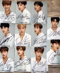 Wanna One Signed Kpop Wanna One Autographed Photo 11 Photos Set 6 Inches