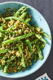 best green beans with olive almond tapenade recipe how to make