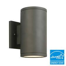 Home Depot Outdoor Led Lights Cylinder Lights Outdoor Wall Mounted Lighting Outdoor Lighting