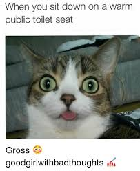 Its Friday Gross Meme - when you sit down on a warm public toilet seat gross