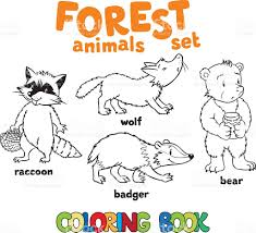 forest animals coloring book stock vector art 607646978 istock