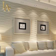 wholesale modern beige horizontal striped wallpaper 3d living room