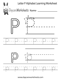 Worksheets For Kindergarten Printable Letter P Worksheets For Preschool Kindergarten Printable