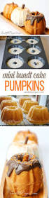 mini bundt cake pumpkins thanksgiving minis and cake