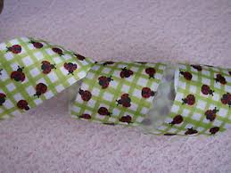 ladybug ribbon ladybug ribbon 2 1 2 in wide wired edge 3 yards ribbon