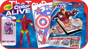 marvel avengers crayola color alive action coloring pages unboxing