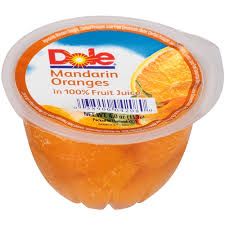 dole fruit bowls dole mandarin in light syrup single serve fruit bowl 4 oz