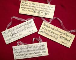 the names of wooden plaque ornaments set of 12