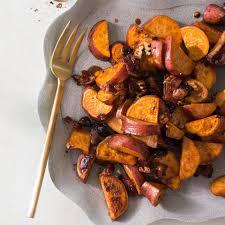 pan roasted sweet potatoes with dried cherries pecans recipe