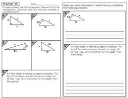 theorem partner practice and reflection worksheets
