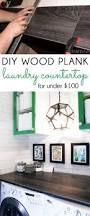 25 best diy wood countertops ideas on pinterest wood create a diy wood plank laundry room countertop for a fraction of the price of laminate