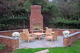 outside fireplace brick deck design and ideas