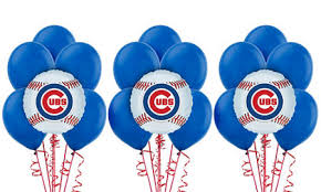 Party City Balloons For Baby Shower - mlb chicago cubs party supplies party city