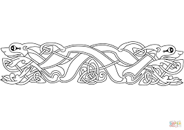 celtic animal ornament coloring page free printable coloring pages