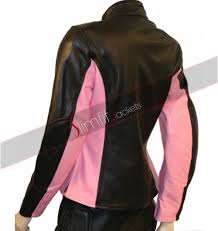 womens leather motorcycle jacket black and pink leather motorcycle jacket
