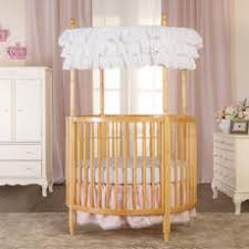round baby cribs  babiesrus with dream on me sophia posh circular crib  natural from toysruscom