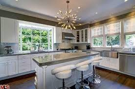 interior home scapes contemporary kitchen with undermount sink glass panel zillow
