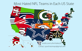 what nfl team has the most fans nationwide the results are in here are the most hated nfl teams in each state