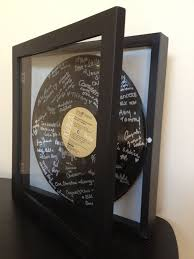 personalized record album custom shadowbox vinyl lp record album wedding guest book