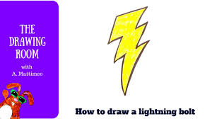 how to draw a lightning bolt easy drawing tutorial youtube