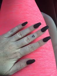 matte black square stiletto nails by kevin yelp