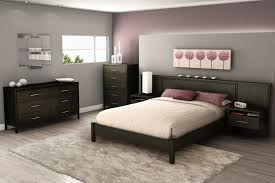 Modern Bedroom Wall Unit South Shore Gravity Queen Wall Unit Platform Bed 3577069 3577203