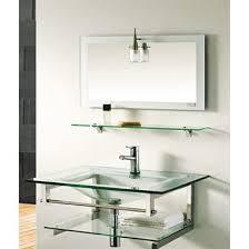 Glass Bathroom Vanity Jjt Trading Vg 100 Glass Modern 28 Single Sink Bathroom Vanity