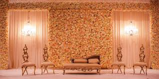 muslim wedding decorations total room transformations yanni design studio floral wall