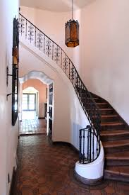wrought iron stair railing staircase mediterranean with none