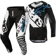 motocross gear 2018 alpinestars techstar venom black white aqua motocross gear